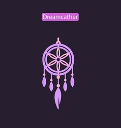 dreamcatcher flat icon vector image