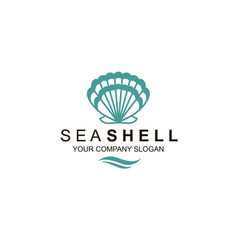 Emblem seashell vector