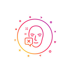face declined line icon human profile sign vector image