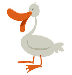 Goose farm animal character vector