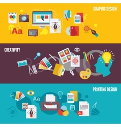 Graphic design banner set vector