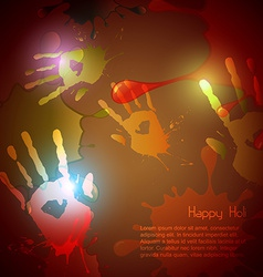 hand splashes vector image