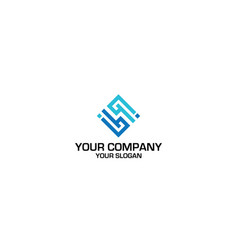 Hi diamond logo design vector