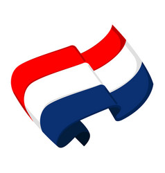Isolated flag of croatia vector
