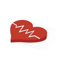 isometric heart rhythm icon vector image