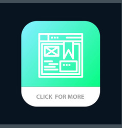 layout web design website mobile app button vector image