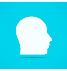 Male face profile design head silhouette human vector