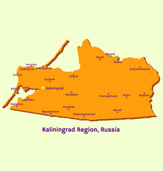 map of kaliningrad region russia vector image