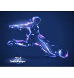 Motion design Football player kick a ball Blur vector