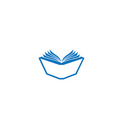 open book pages and papers for logo design vector image