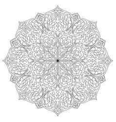 ornamental floral mandala vector image