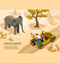 photo safari vector image