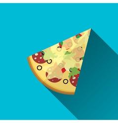 Piece of Pizza flat design vector
