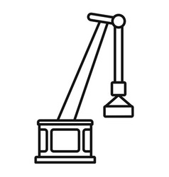 Port crane icon outline style vector