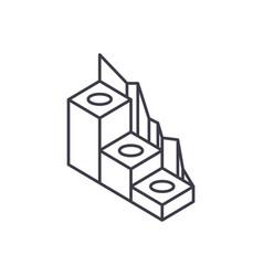 production development line icon concept vector image