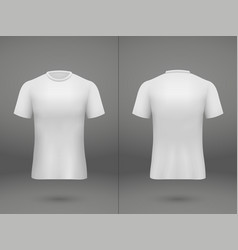 realistic template soccer jersey vector image