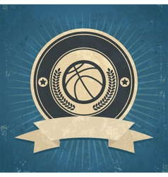 Retro Basketball Emblem vector image