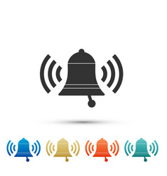 ringing bell icon isolated on white background vector image