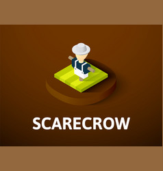 scarecrow isometric icon isolated on color vector image