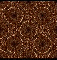 Seamless geometrical gravel mandala mosaic vector