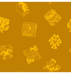 Seamless pattern with peruvian indians art vector