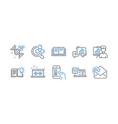 set education icons such as music making vector image