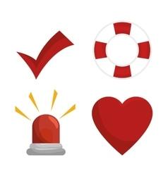 Set icon insurance protection design vector