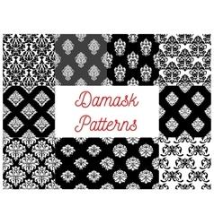 Set of damask seamless patterns vector image