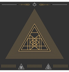 Set of geometric hipster shapes 9znkl72211black vector
