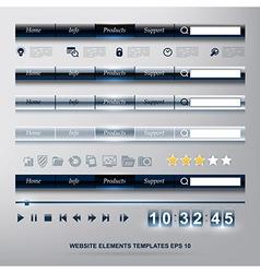 set of WEB design elements templates vector image