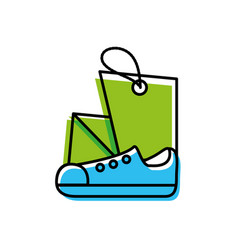 shoe male with tag commercial vector image