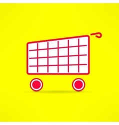 shopping cart bright symbol Marketing vector image