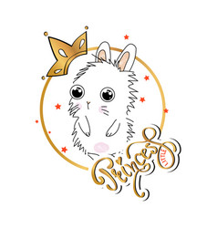 slogan print with cute bunny vector image
