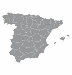spain regions map vector image