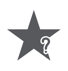 star icon with question mark vector image