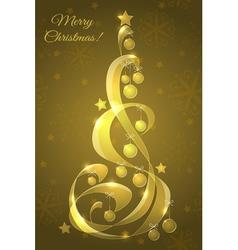 Stylized glass Christmas tree vector image