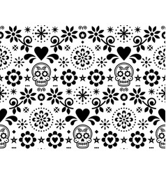 Sugar skull seamless pattern - mexican vector