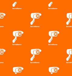 surveillance pattern orange vector image