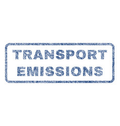 Transport emissions textile stamp vector