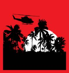 tropical heat with choppa vector image