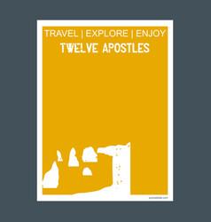 twelve apostles victoria australia monument vector image