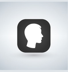 user sign icon on app button person symbol human vector image