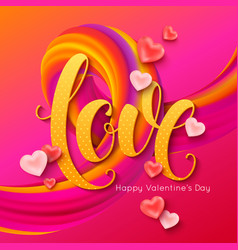 valentines day banner layout love calligraphic vector image