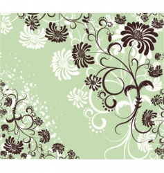 vector floral decoration flowers background vector image