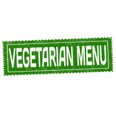 vegetarian menu grunge rubber stamp vector image