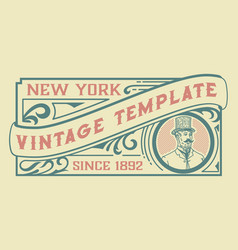 Vintage template for packaging and branding vector
