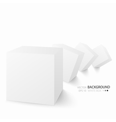 White cubes isolated on white background vector image