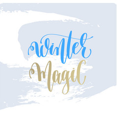 winter magic hand lettering holiday poster vector image