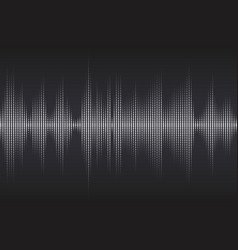digital sound equalizer with white dots on dark vector image vector image