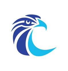 eagle head logo image vector image